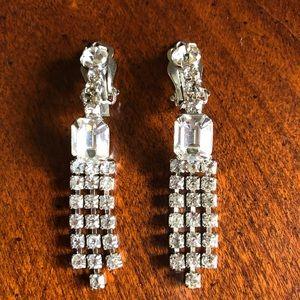 Vintage rhinestone clip earings